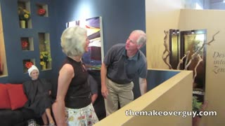 MAKEOVER! Pretty Gray Wavy Hair by Christopher Hopkins, The Makeover Guy® - Video