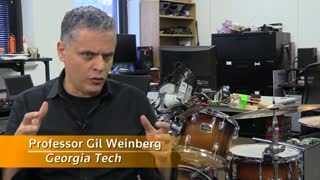 Robotic arm allows cyborg drumming - Video