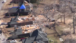 Aerial footage captures magnitude of Alabama tornado damage  - Video