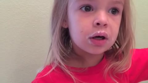 3-year-old denies eating donuts with evidence on her face
