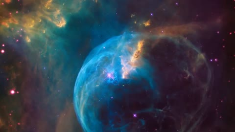 "Hubble Telescope spots star ""inflating"" a massive Space bubble"
