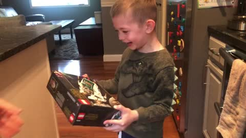Quarantine toy surprise sends little boy over the edge with joy