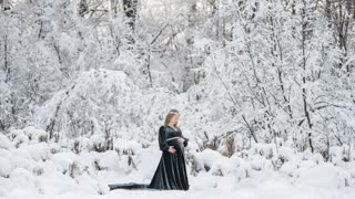 Sarah winter wonderland maternity session
