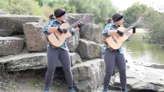 Girl Plays 'Pirates Of The Caribbean' Song In Duet With Herself - Video