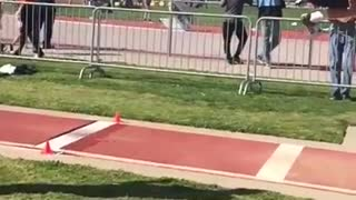 Collab copyright protection - long jumper slips lands awkwardly - Video