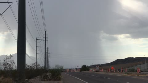 Amazing Microburst Raincloud over Arizona During the Monsoon Today