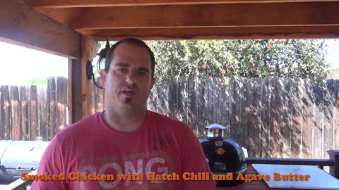How to make Smoked Chicken with Hatch Chili and Agave Butter Recipe