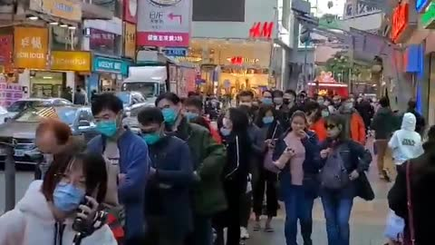 Every Single Person On The Streets Of Hong Kong Wears Mask For Coronavirus