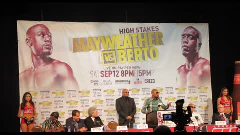 "Floyd Mayweather calls out Berto, ""This is called chess, not checkers"""