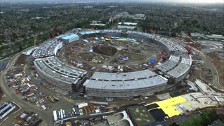 Drone's eye view of new Apple headquarters - Video