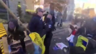 Trump supporters with children chased and attacked