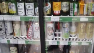 Beer in a Russian store.
