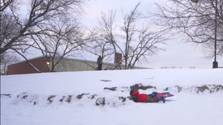 Sledding at lincoln park highschool chicago