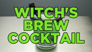 How To Make A Vodka Halloween Cocktail - Witch's Brew - Video