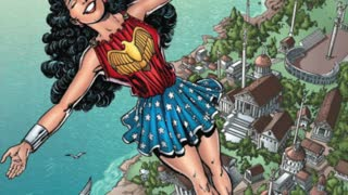 Different iterations of DC Comics' Wonder Woman through the years