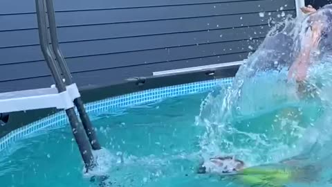 Toddler nails front flip at only three years old