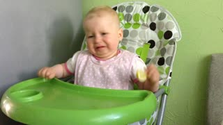 Baby's Adorable Reaction After Tasting Lemon