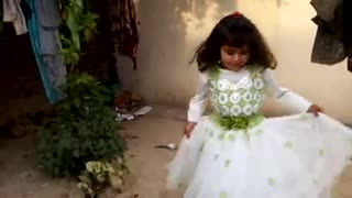 Another video of beautiful baby with frock wearing  - Video