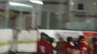 My son's first day of ice hockey practice