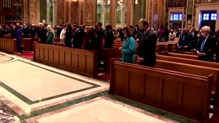 Biden attends church service before inauguration