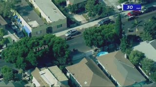 Armed Suspect 🚔🚐Police Chase, 🚁🚁2 LAPD Airships