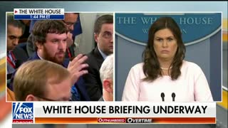 Sarah Sanders did not take Jim Acosta's race-bait in question on sanctuary cities