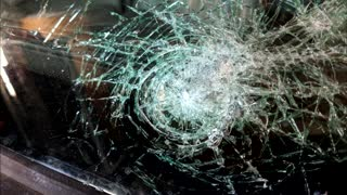 Windshield Struck By Pipe - Video