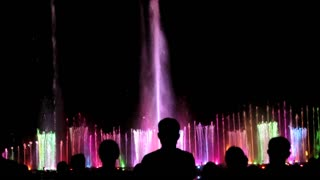 Amazing laser, water show - Video