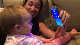 One-year-old has adorable conversation on the phone with grandma