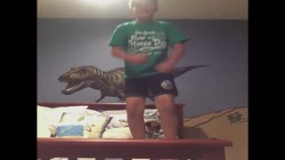 Dancing Boy Breaks Bed And Lies To Mom About It - Video