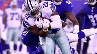 Giants dominate Cowboys in rematch, Odell and Zeke Struggle With Jersey Swap. - Video