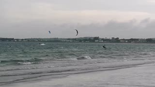 Kite surfer getting some air