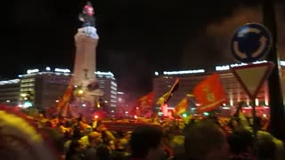 Party at the Marques of Pombal - Benfica Champion 2013/2014 - Video