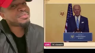 Black Trump supporter calls out Biden on Thanksgiving day speech