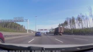 Runaway Tire Nearly Misses Car - Video