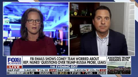 Rep. Nunes reacts to new emails showing Comey FBI team assisting Schiff and monitoring Nunes