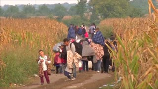 Migrants pour into eastern Croatia from Serbia - Video