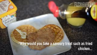 Chicken And Waffles Seem Strange Outside The United States - Video