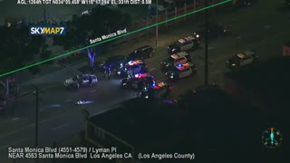 Civilians Get Involved In Stolen Vehicle Police Pursuit in LA
