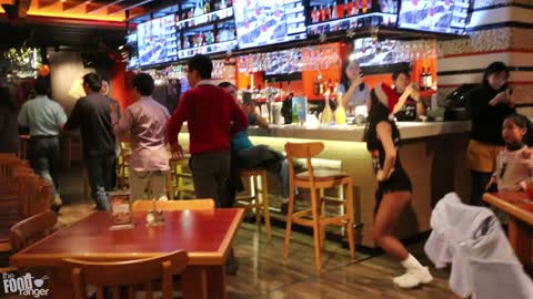 Hooters In China For Christmas | Chinese Hooters Food And Fun!