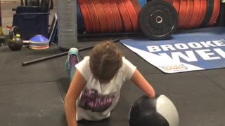 Inspiring Girl Does Push Ups - Video