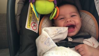 Baby finds rap song absolutely hysterical - Video