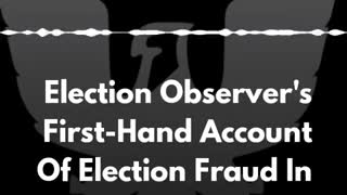 Election Observer Voter Fraud