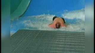 Wave Simulator Takes Hefty Man For A Ride - Video