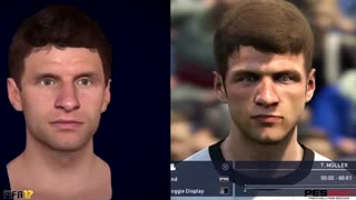 VIDEO: These are the faces of the best players in FIFA and PES 17 - Video