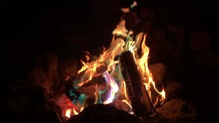 Mesmerizing colorful flames captured in slow motion
