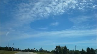Strange Circular Hole Spotted In The Clouds Above Ontario - Video