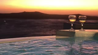 Sunset in Santorini - Video