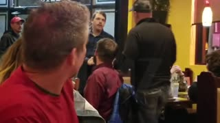 McConnell confronted at restaurant by angry customers - Video