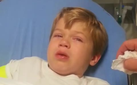 Kid wakes up from surgery, hilariously describes his experience